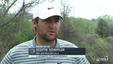 Scheffler credits early start in WGC-Dell Match Play win