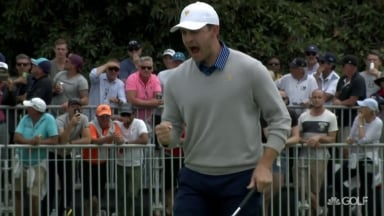 Cantlay sparks U.S. rally with huge birdie at 18