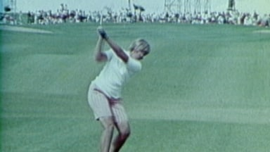 In her own words: Wright's iconic golf swing