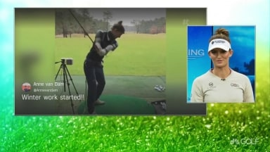 LPGA Rookie Anne van Dam Shows Off Perfect Golf Swing