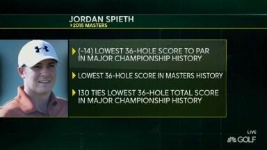 23c6272247c1ce 2015 Masters  Jordan Spieth ties 36-hole major record