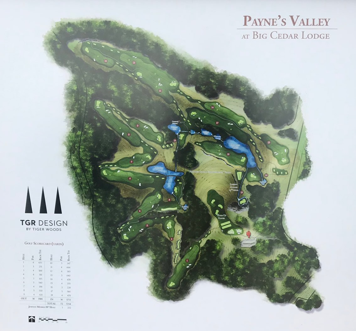 Tiger Woods To Design Public Course Paynes Valley At Big Cedar - Big cedar lodge map in the us