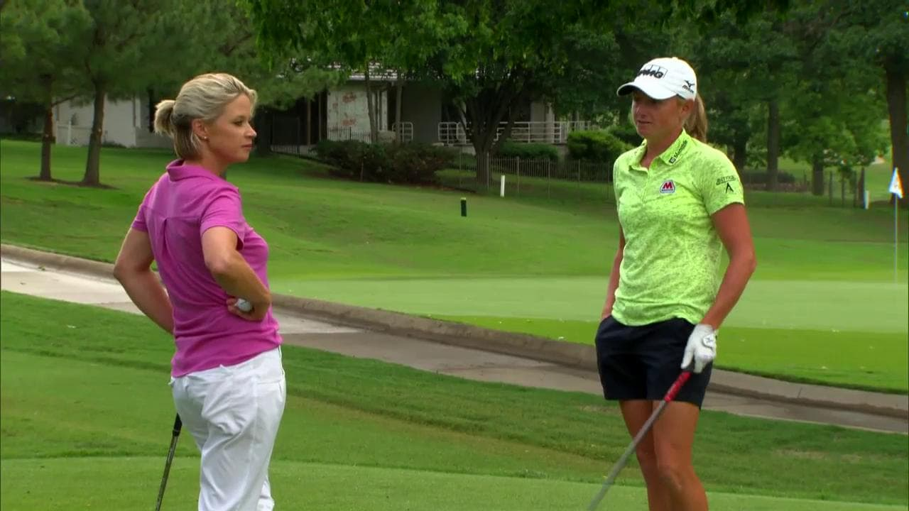 stacy lewis and lisa cornwell play 17 at pinnacle cc