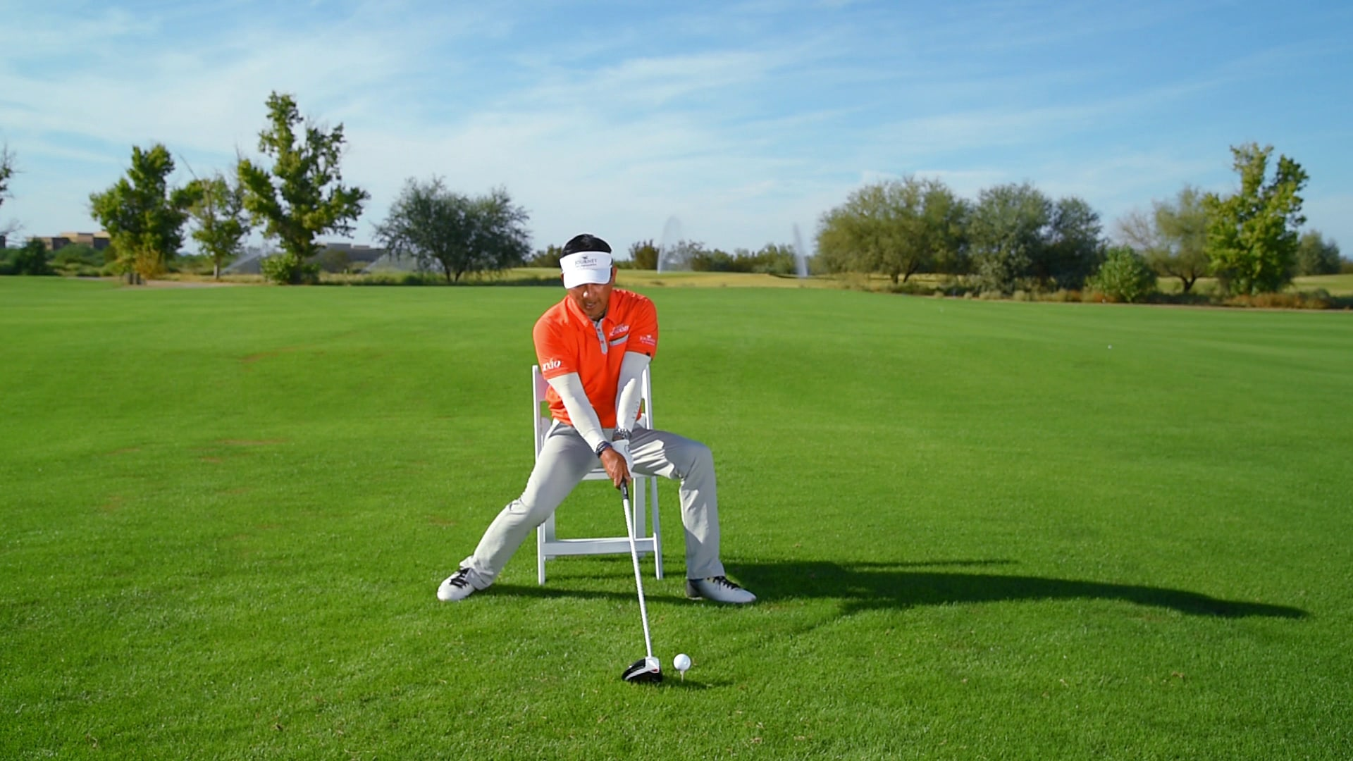Chang Increase club head speed with chair drillFeb 21 2017 & Randy Chang: Increase club head speed with chair drill | Golf Channel