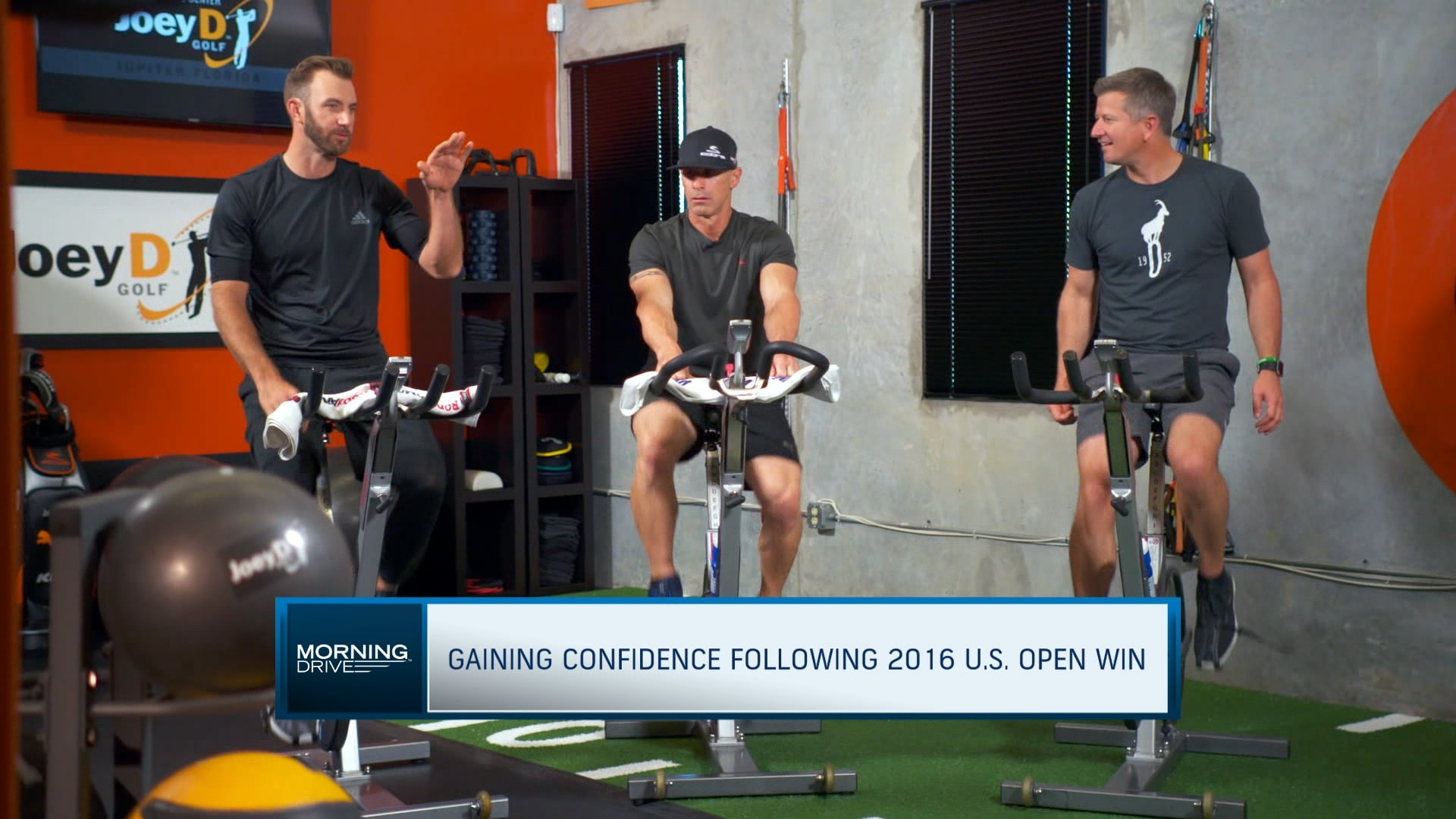 Dustin Johnson Uses Stationary Bike To Warm Up Golf Channel