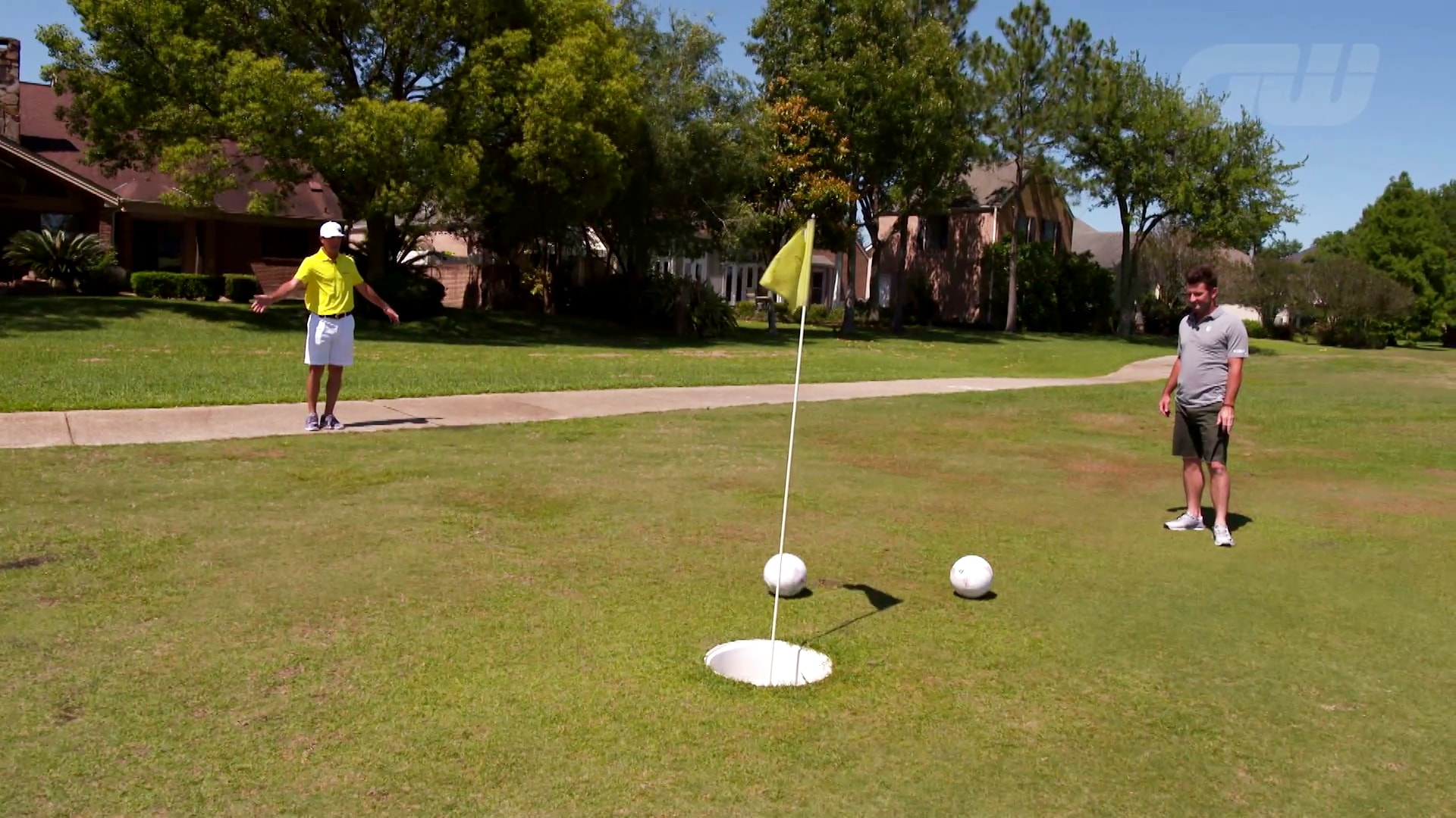 Matt Every And Billy Horschel Play A Game Of Footgolf