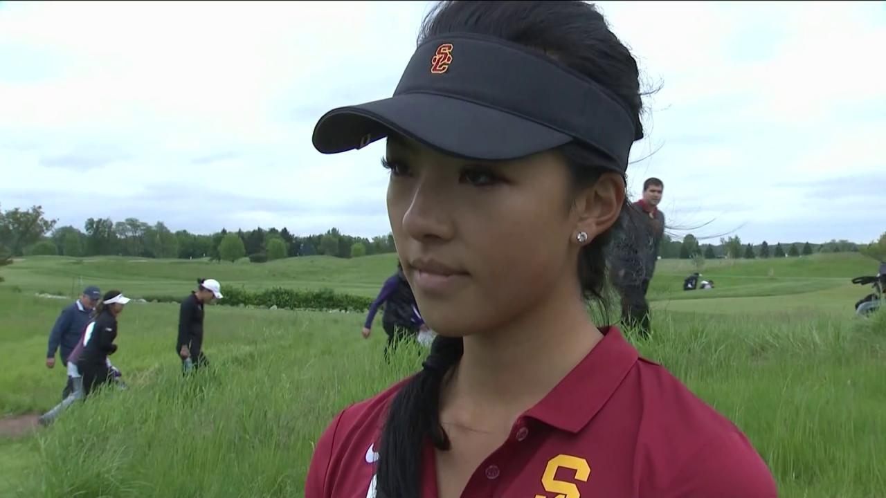Usc Muni He Interview At Ncaa Women S Golf Semifinals Golf Channel