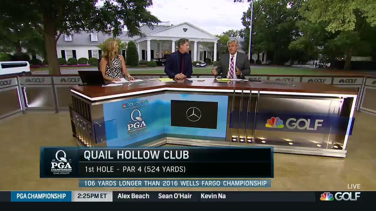 2017 pga championship quail hollow first hole reaction for 07 08 championship table