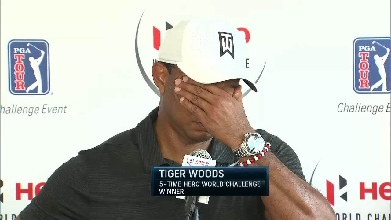 2017 Hero World Challenge: Tiger Woods rd one interview | Golf Channel