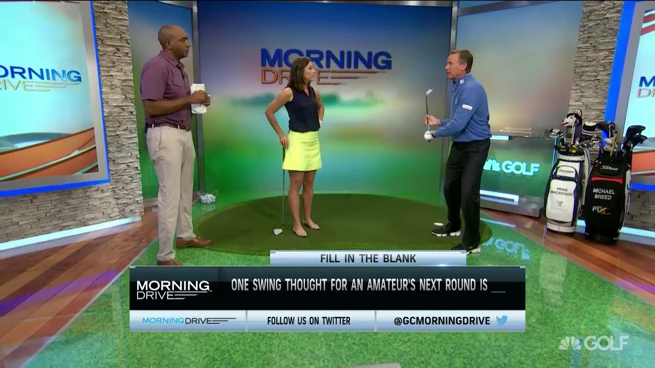 what is the best swing thought for amateur golfers? | golf channel