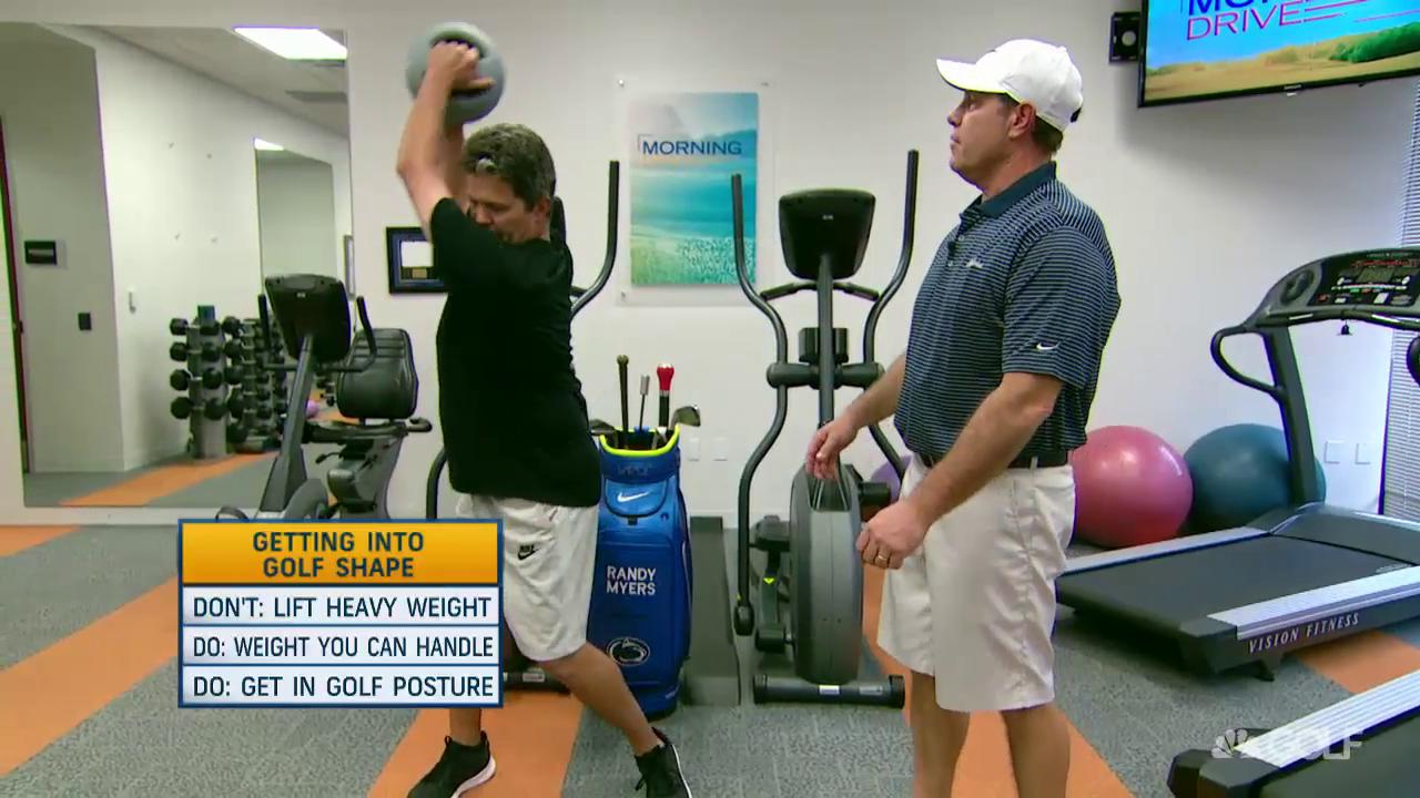 how to get into shape for golf