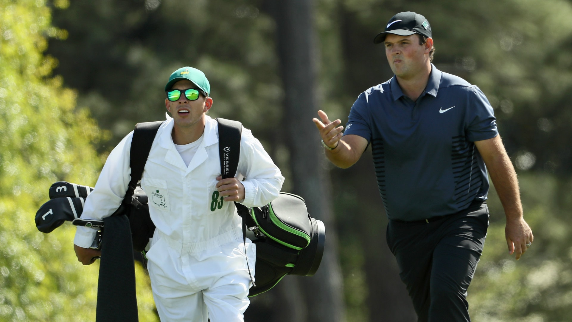 Patrick Reed and his brother-in-law caddie Kessler Karain