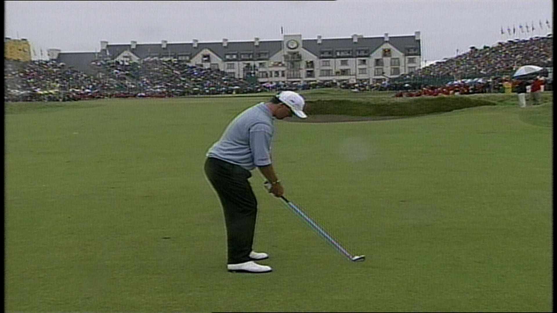 1999 british open paul lawrie playoff shot on 18th hole
