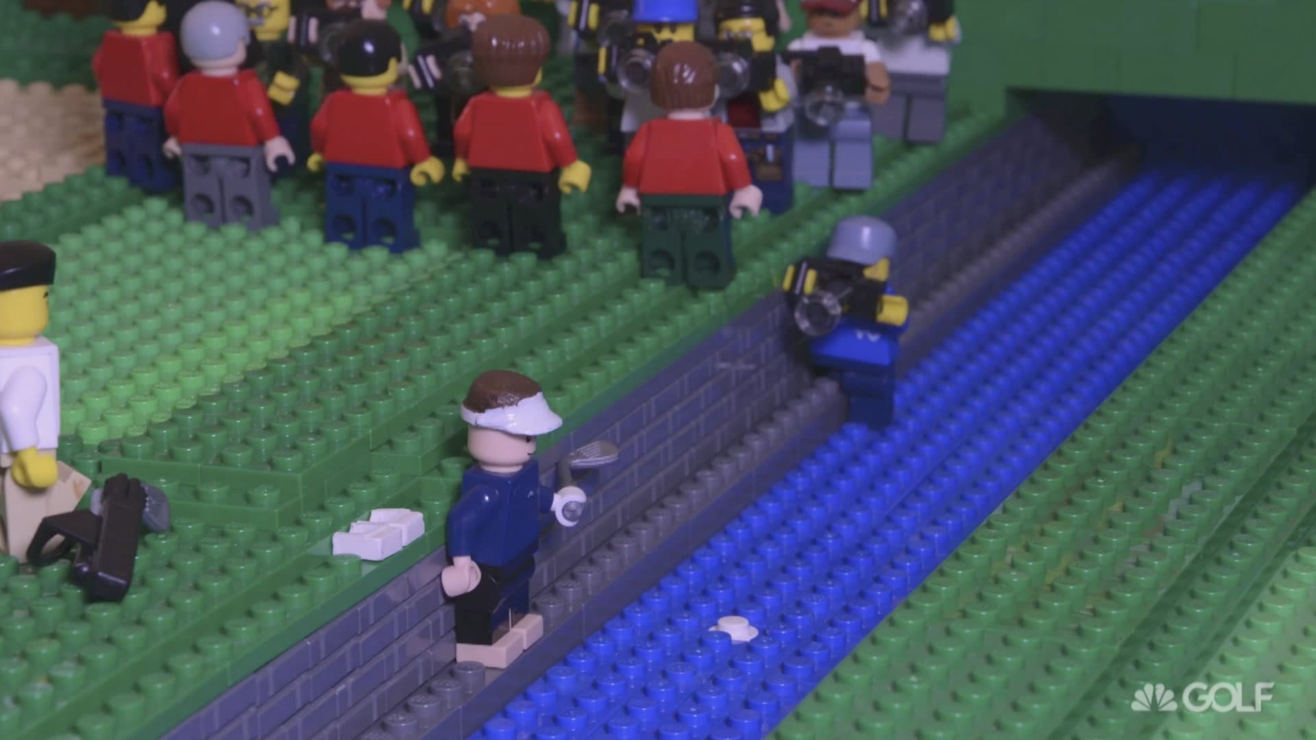 British Open: Jean Van de Velde collapse in lego form | Golf Channel