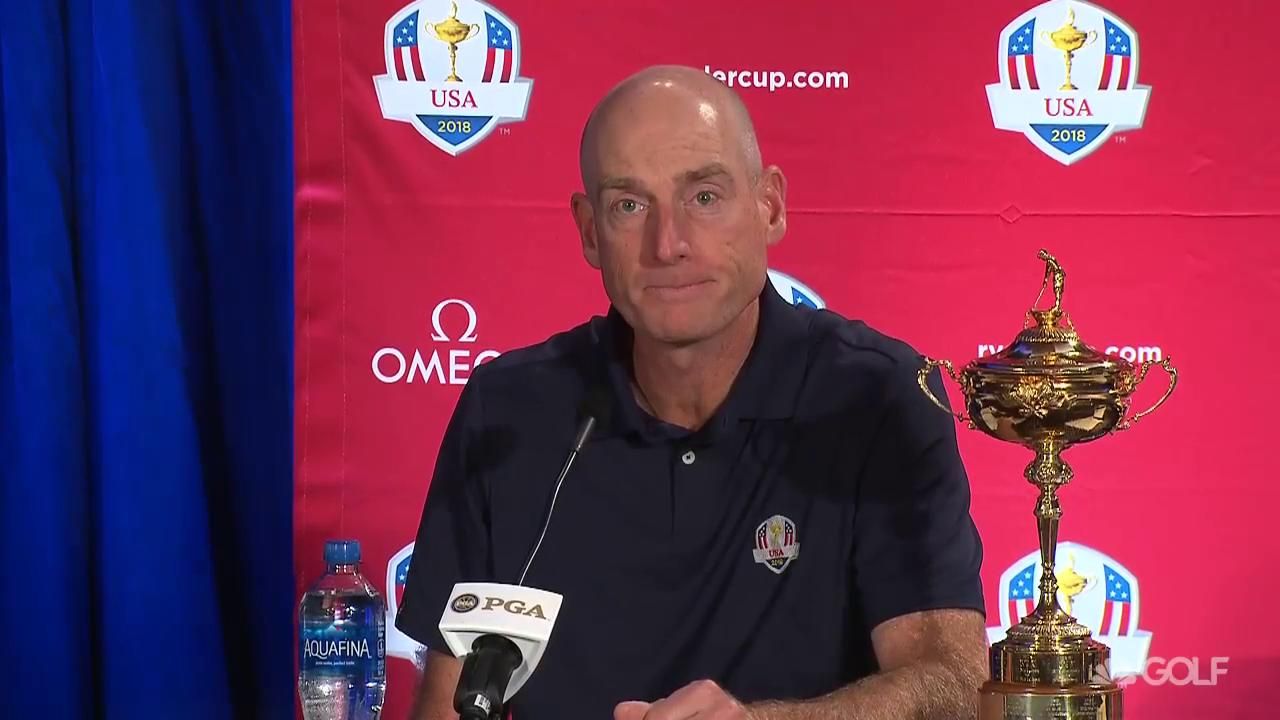 US Captain Jim Furyk