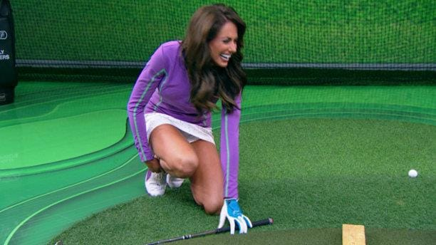 Holly Sonders Trick Shot Blooper Golf Channel