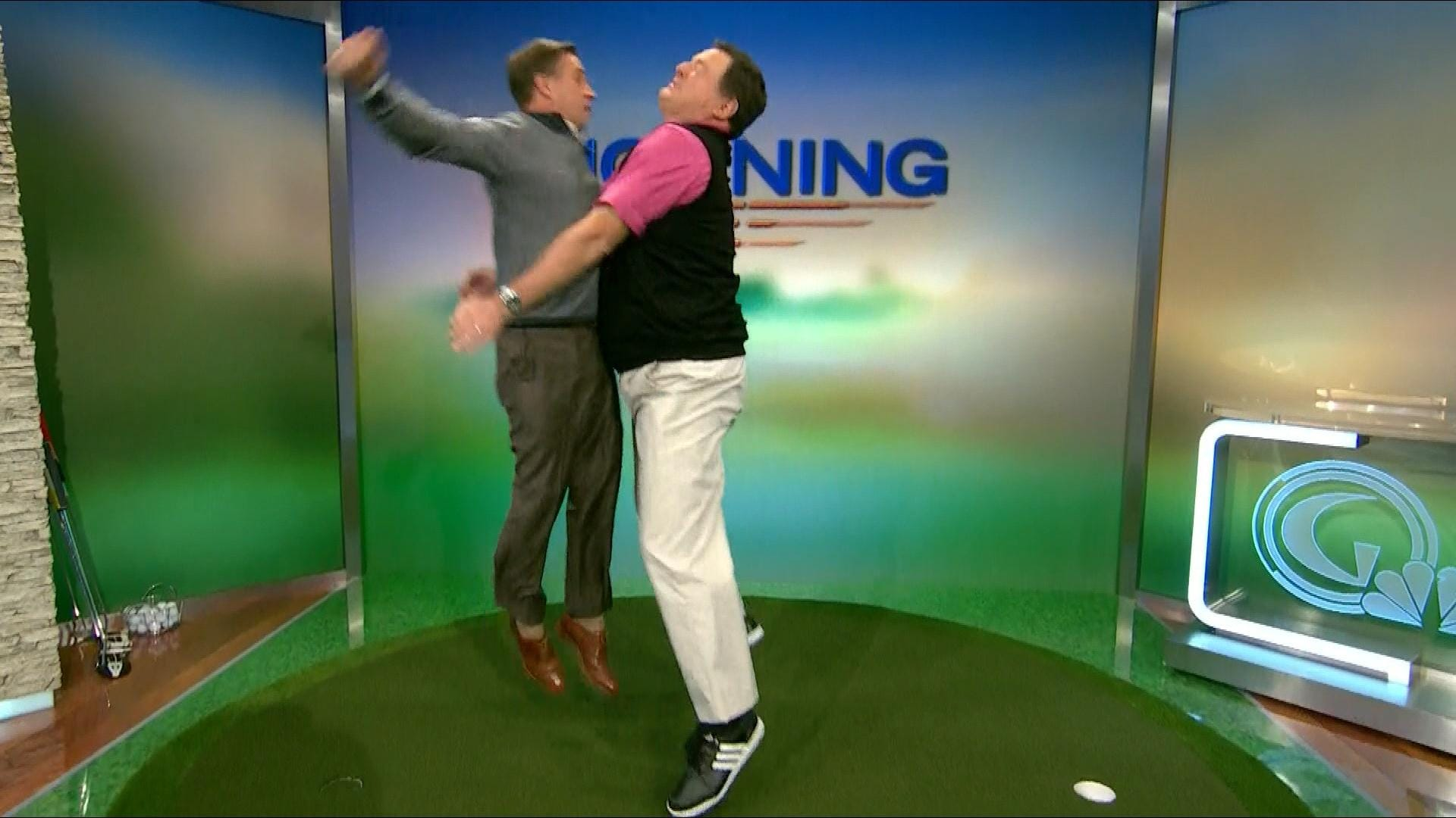 Charlie Rymer Wins The Chest Bump Golf Channel