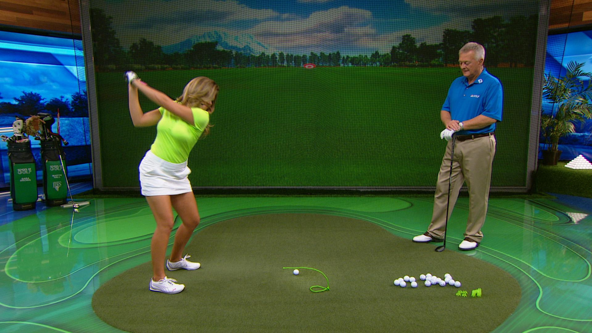 Golf Driver Reviews >> Martin Hall drill to stop swinging from over the top | Golf Channel
