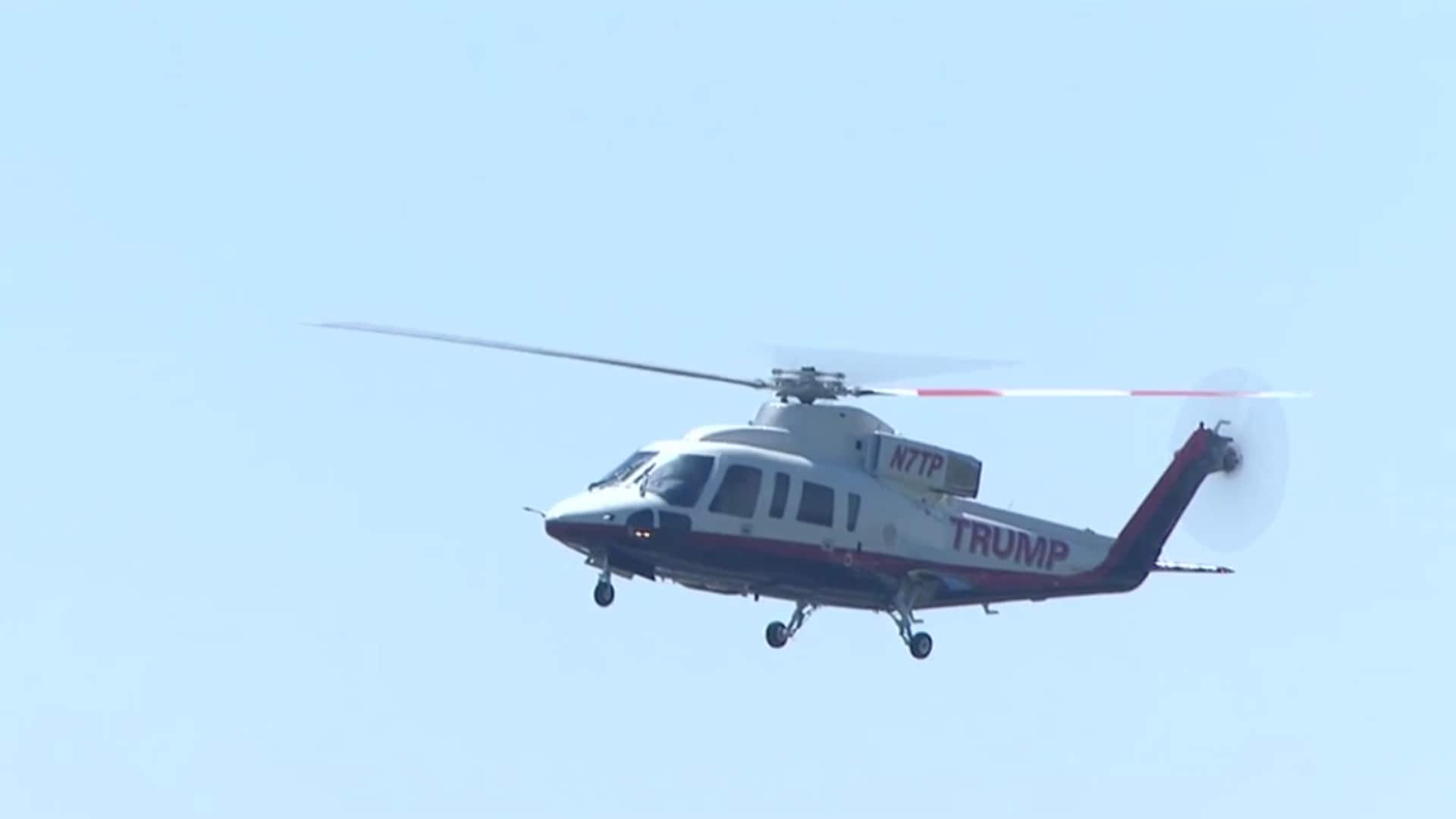 Watch: Trump arrives by helicopter at Doral - Golf news - NewsLocker