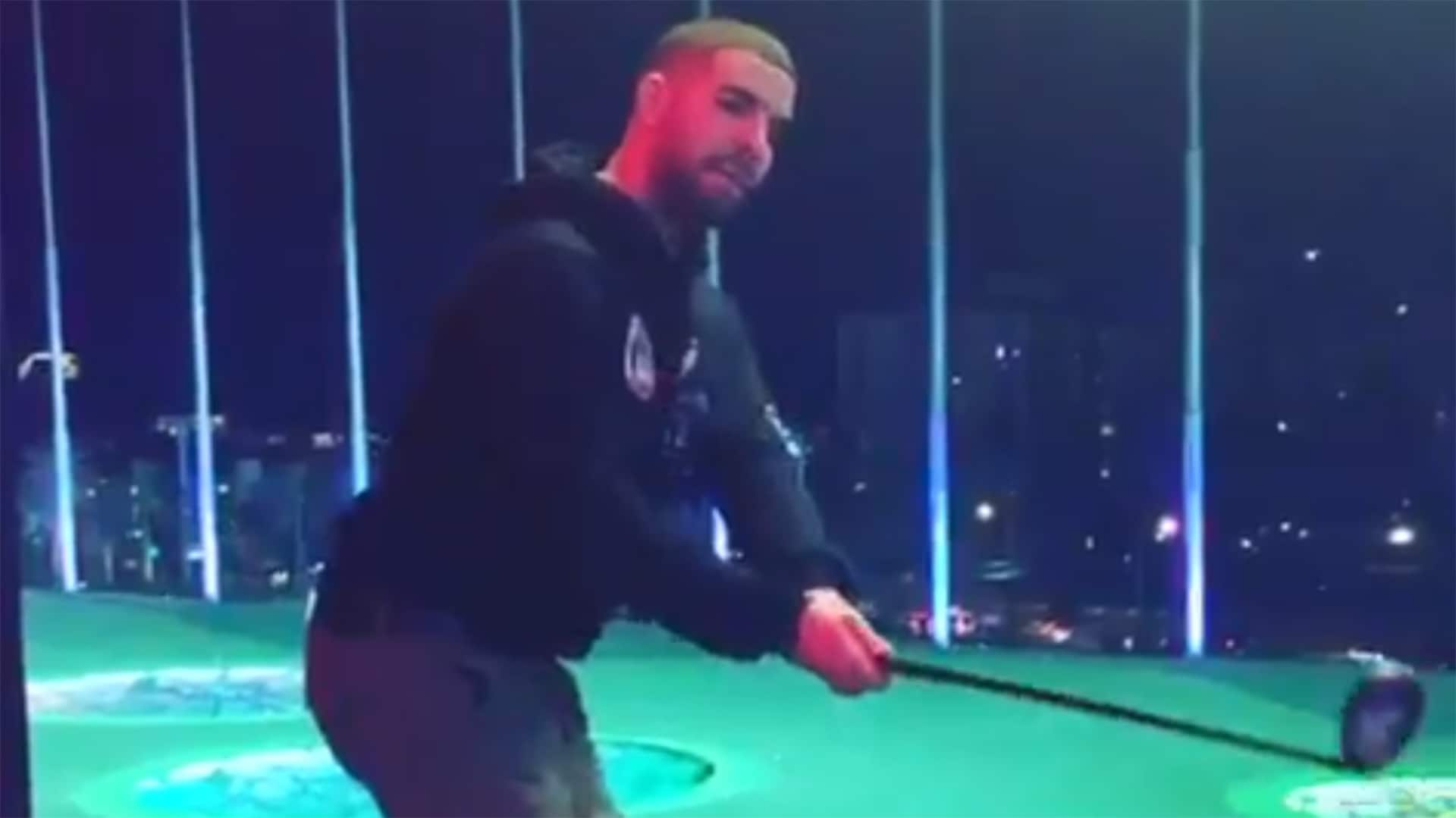 Watch Drake Channels Mike Weir At Top Golf In Las Vegas
