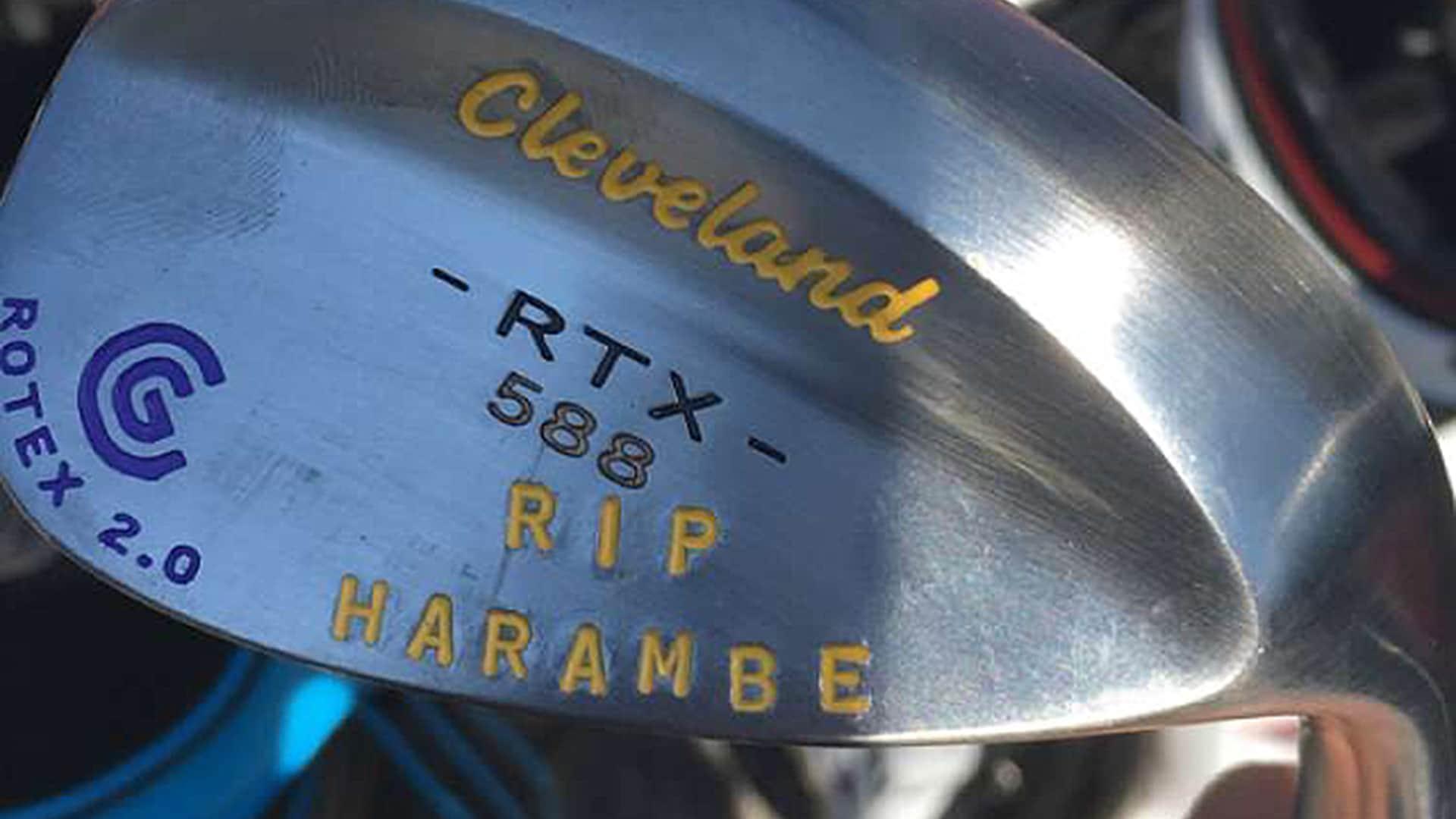 Kaufman gets rip harambe stamped on wedge golf news newslocker