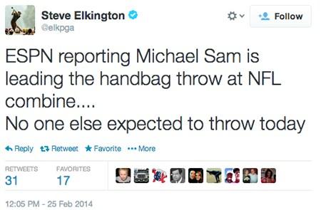 Steve Elkington tweet