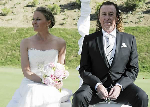 Miguel Angel Jimenez wedding