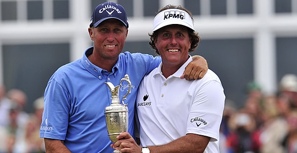 Jim Mackay and Phil Mickelson