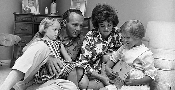 Arnold Palmer and family