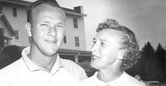 Arnold Palmer and mother