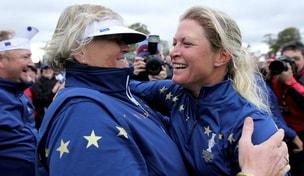 Laura Davies and Suzann Pettersen