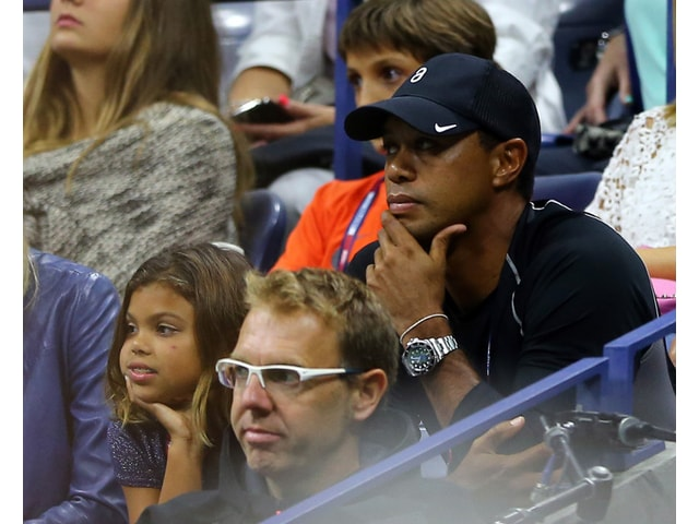 Tiger Woods And Daughter Sam At U S Open Golf Channel