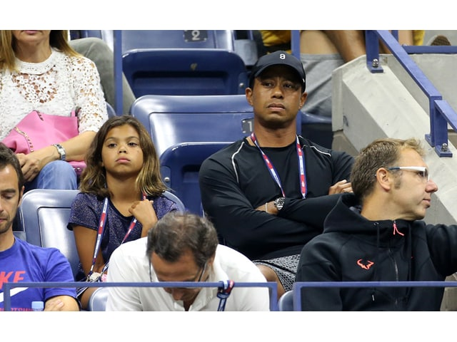 tiger woods and daughter sam at u s  open