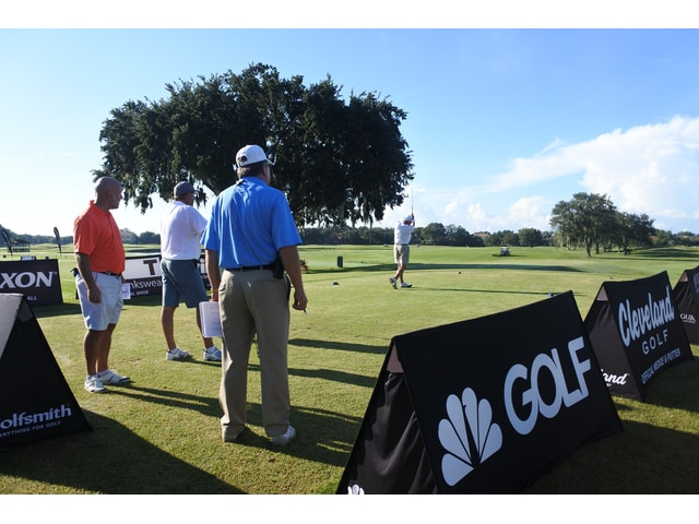 Gary Grizzle's opening tee shot at Golf Channel Am Tour Senior National Championship