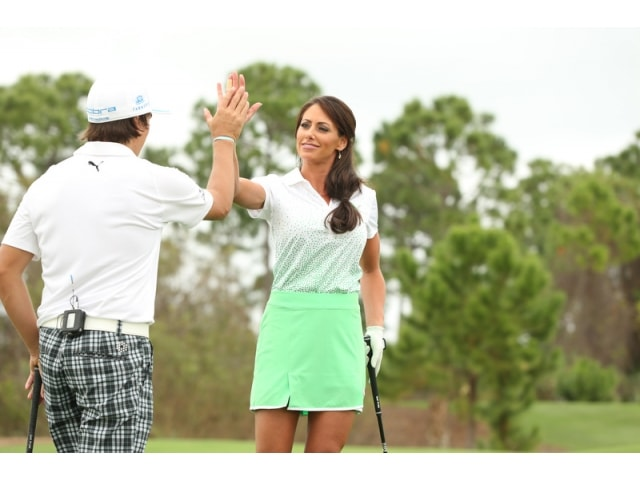 Photos of rickie fowler s time on playing lessons with holly sonders