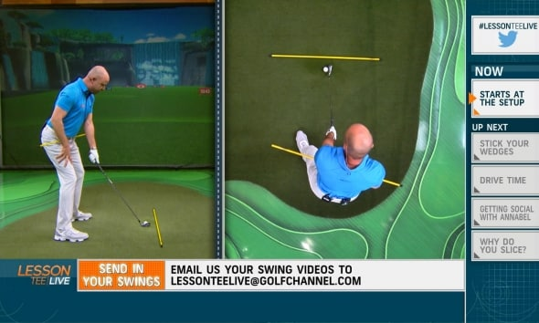 Lesson Tee Live Social Media Instruction Show Golf Channel