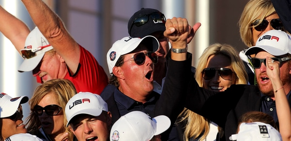 Phil celebrating Ryder Cup win