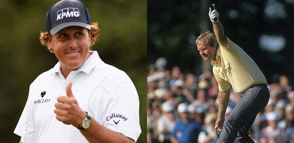 Phil Mickelson and Jack Nicklaus