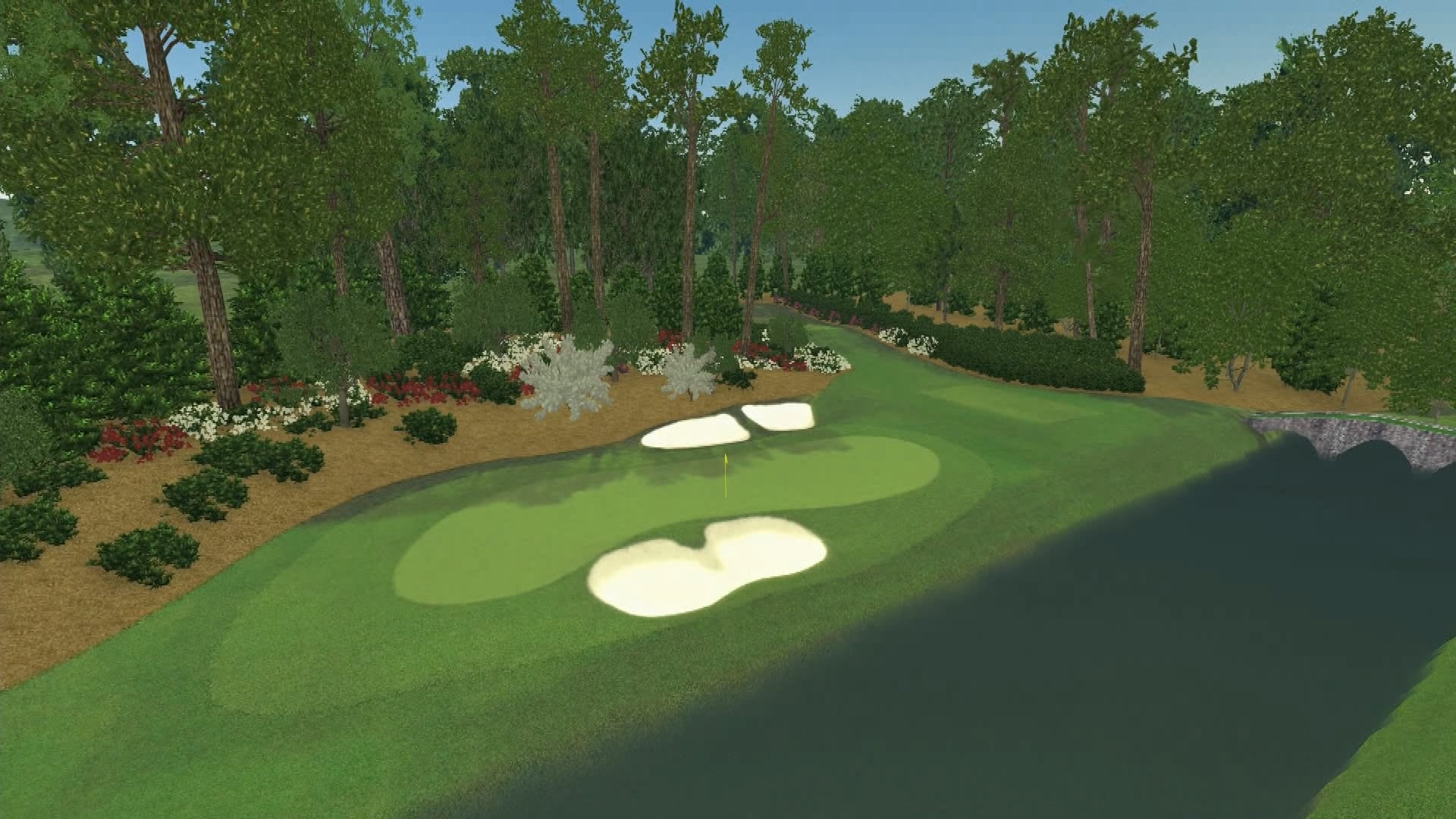 12th hole augusta wallpaper for Augusta national wall mural